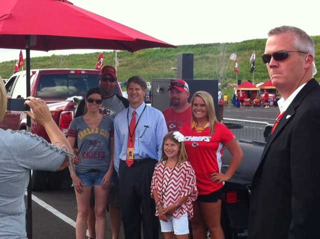 Chiefs owner Clark Hunt and fans