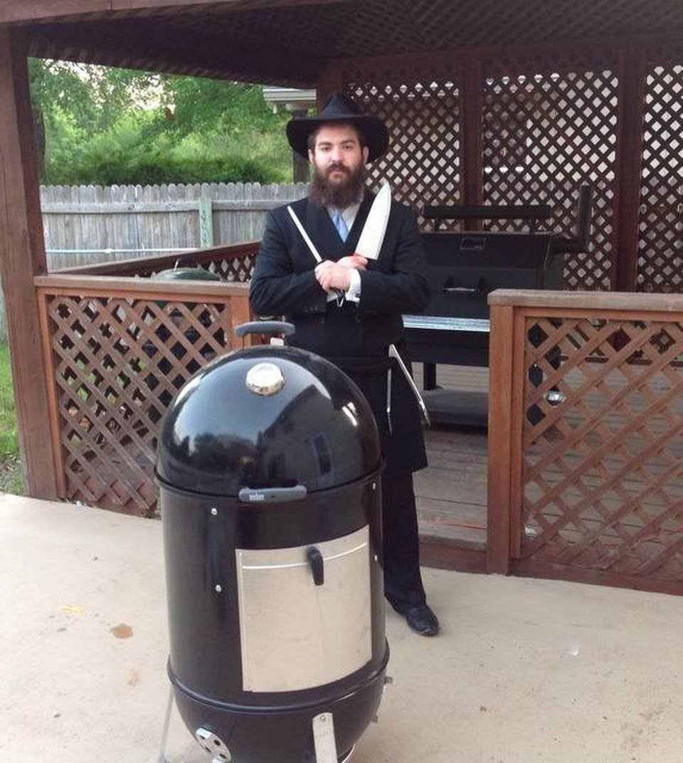 Mendel Segal of RabbiQ, the founder of Kansas City's kosher bbq contest