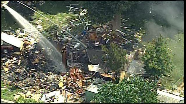 Officer Tom Gentry, a police spokesman, said the house was flattened.