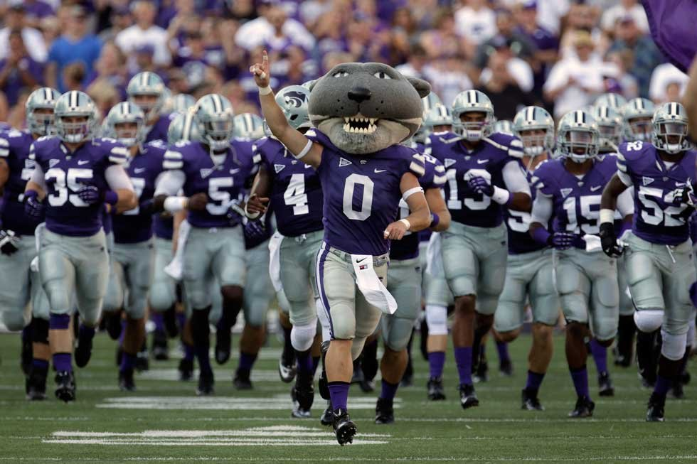 he Kansas State Collegian reports that some student fans started chanting an expletive Saturday and the initials of another rival, the University of Kansas. (KCTV5)