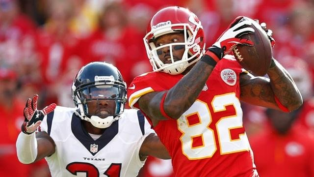 Dwayne Bowe in action against Texans in October