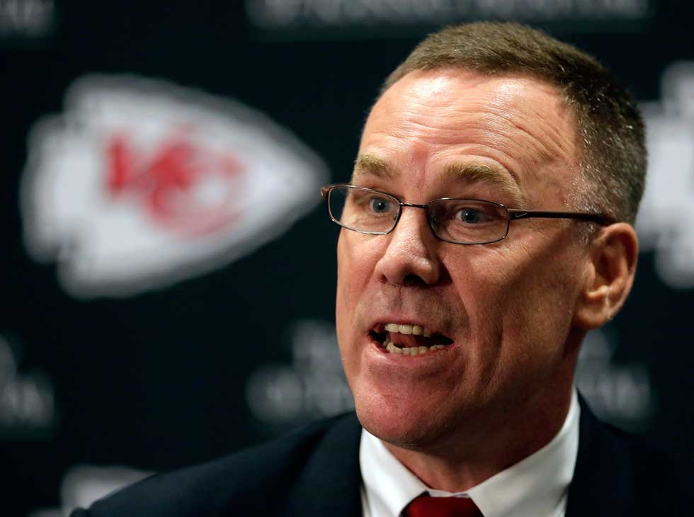 Chiefs general manager John Dorsey is hard at work for his one of his favorite times of the year -- the NFL Draft. (AP)