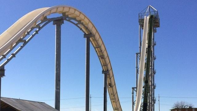 Verruckt was the world's largest waterslide when it opened in 2014 and can be seen from anywhere inside the park. (KCTV5 File Photo)