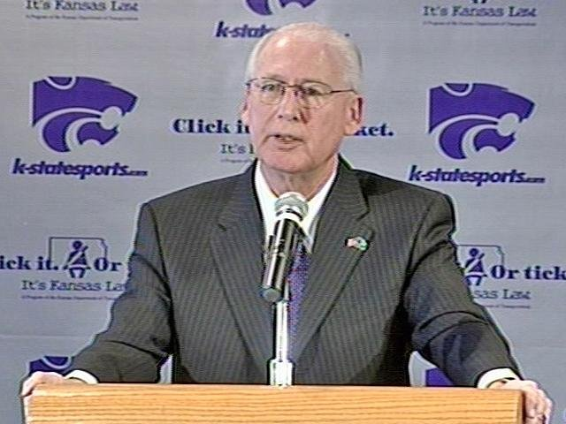 File photo of Bill Snyder at a press conference in 2008. (KCTV)