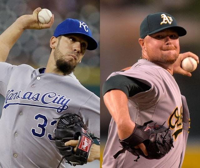 The A's will open this year's postseason at Kansas City on Tuesday night, with Jon Lester facing the Royals' James Shields. (The Associated Press)