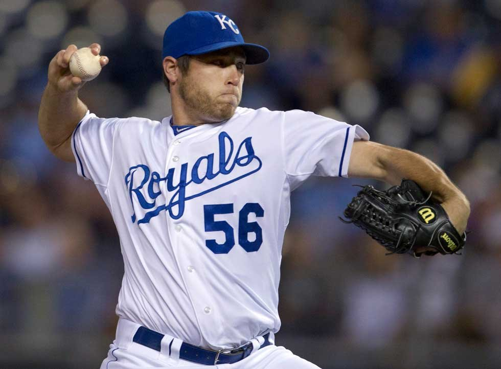 Greg Holland pitches in wild-card game/AP