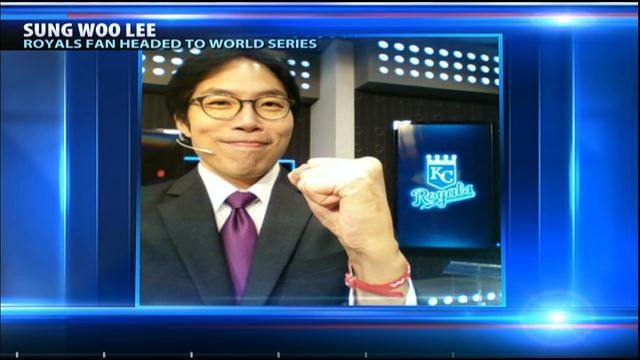 Sung Woo Lee, a die-hard, long-time Kansas City Royals fan from Seoul became an international celebrity after he was superstitiously credited with sparking the team's playoff run.