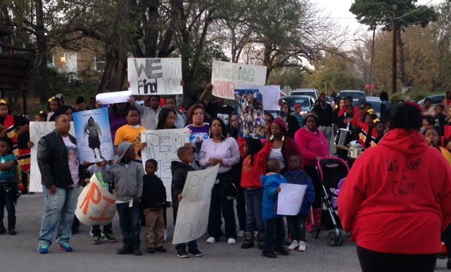 Friends and family of a 10-year-old girl killed in a drive-by shooting one week ago came together for a march in her honor. (Jonathan Carter/KCTV5 News)