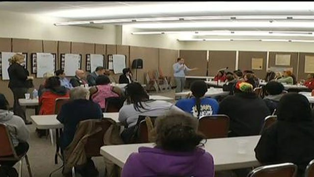 About 60 residents from the Rosedale Ridge Apartments showed up Tuesday night at Rainbow Mennonite Church for a town hall style meeting to learn if that mold will force them out by Dec. 1. They've been dealing with this mold problem since September.