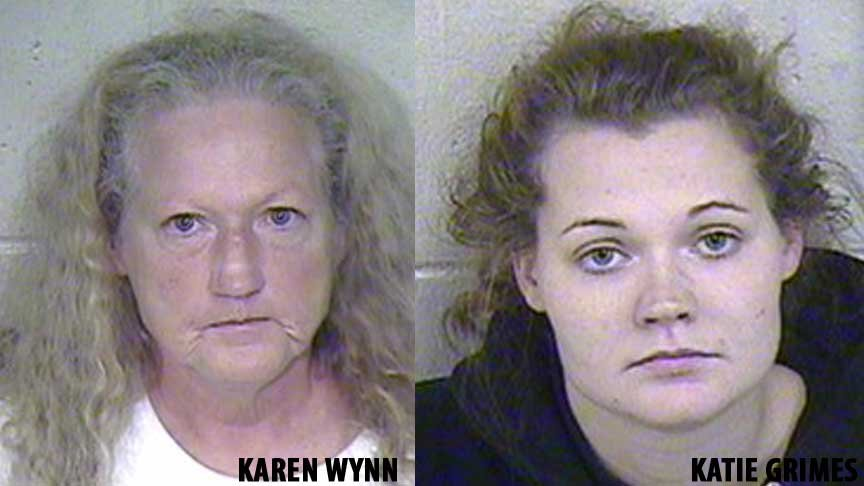 Katie L. Grimes, 25, has been charged with felony abuse. Grimes' mother, Karen G. Wynn, 51, faces the same charge. A judge set Grimes' bond at $150,000 cash only while Wynn's bond was set at $100,000 cash only.
