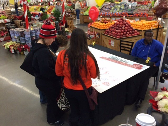 "We have a large ""Get Well"" card that you can sign this week at six area Hy-Vee locations. (Grady Reid/KCTV5 News)"