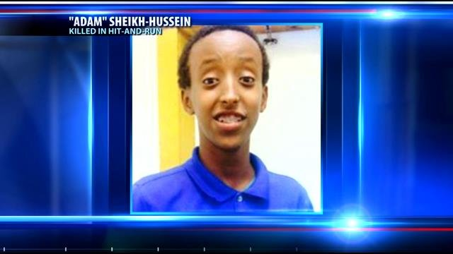 Abdisamad Sheikh-Hussein, 15, died last month after his legs were nearly severed in the crash.