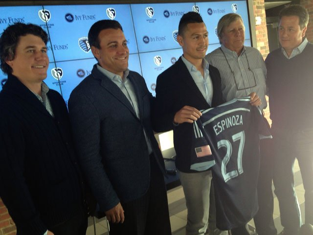Honduran midfielder Roger Espinoza has returned to MLS club Sporting Kansas City. (Rob Rhodes/KCTV5 News)
