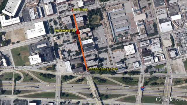 This portion of the project will close off traffic and street parking on Delaware Street from Third Street to Independence Avenue through March 9.