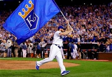 Greg Holland celebrates