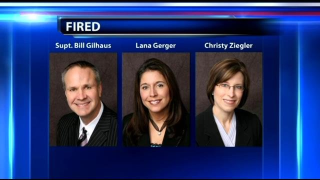 Former superintendent Bill Gilhaus and subordinates Christy Ziegler and Lana Gerber allege in federal court that they were wrongfully discharged.