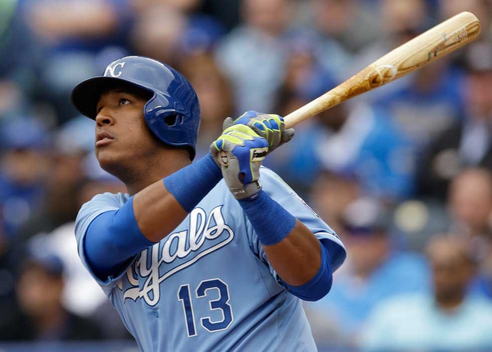 Catcher Salvy Perez hit a home run during the game