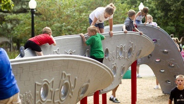 Kids are no longer able to play on a few slides in Independence. (KCTV5)