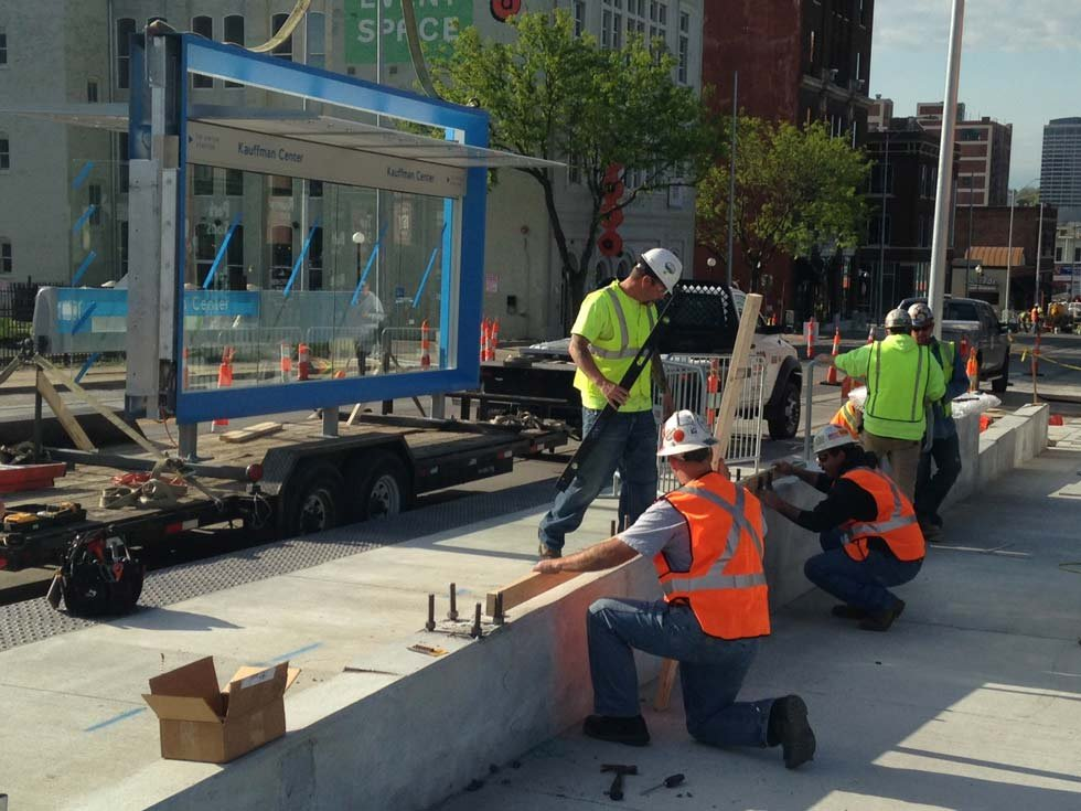Thestreetcartrack work is completed, and the electrical wiring is expected to be ready by the end of September. (KCTV5 News, File)