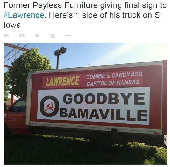 Ks Furniture Store 39 S Billboards Attack 39 Commie 39 Lawrence Residen Kctv5
