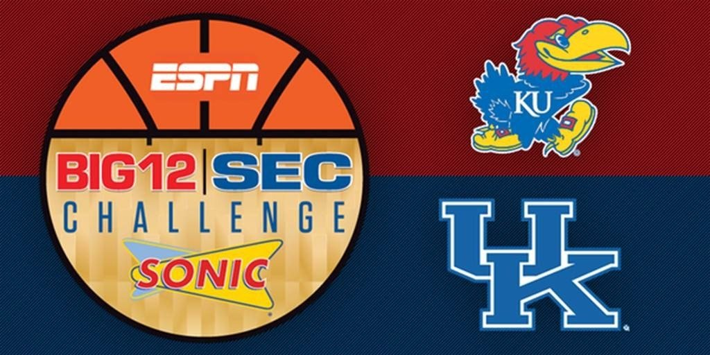 Kentucky's visit to Kansas highlights the first Big 12-SEC Challenge to be held while both conferences are in the middle of their league schedules.