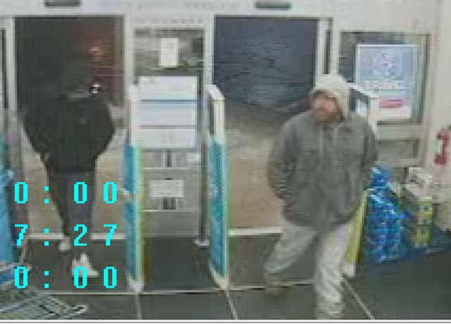 Authorities say two men entered the Walgreens, 2630 NE Vivion Rd., about 1 a.m. on May 5, and went to the pharmacy of the store where they demanded prescription drugs.