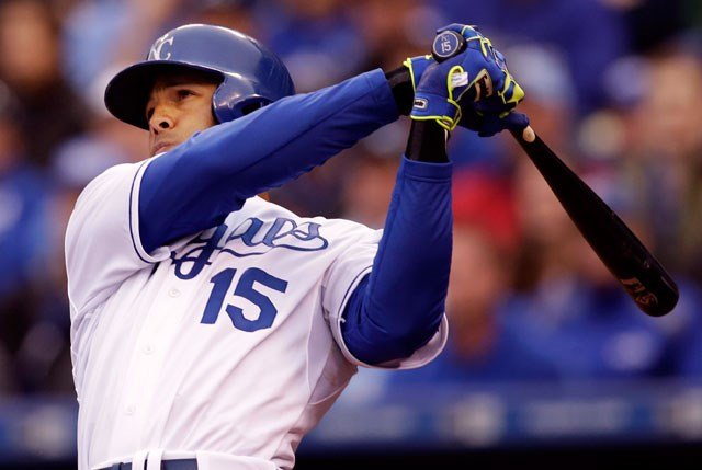 Alex Rios is expected to return to the Kansas City Royals' lineup for Saturday's game against the Chicago Cubs following 1 1/2 months on the disabled list with a broken left hand. (AP, File)