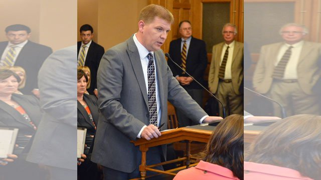 Kansas would likely be forced to lay off prison guards, cut aid to public schools and reduce payments to healthcare providers and nursing homes if legislators don't increase taxes, Budget Director Shawn Sullivan told GOP lawmakers Monday. (AP, File)