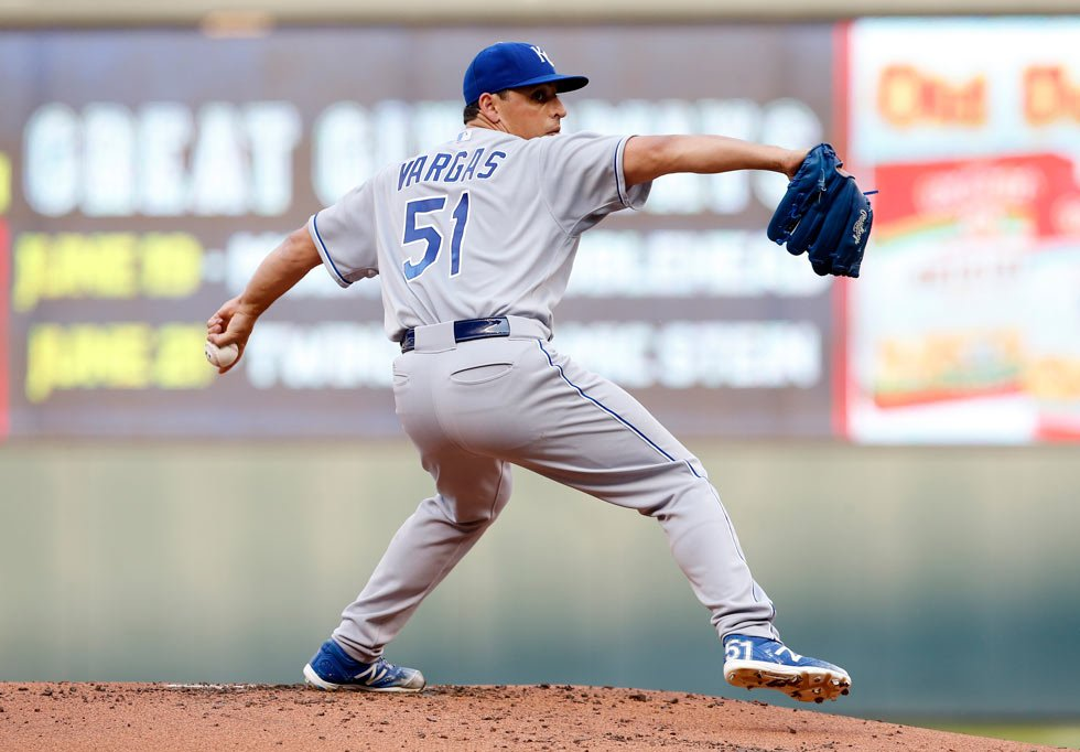 Right-hander Yordano Ventura will come off the disabled list Thursday to start the series finale against Tampa Bay, and left-hander Jason Vargas is expected to return from the DL after the All-Star break. Both have been out since early June. (AP, File)