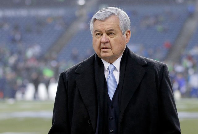 Jerry Richardson, the owner of the NFL's Carolina Panthers, has donated $100,000 to the families of the Charleston shooting to help cover burial costs of the victims. (AP Photo/Ted S. Warren)