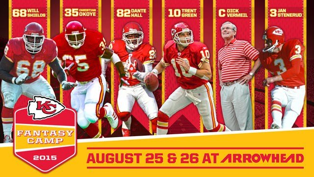 The second annual Chiefs Fantasy Camp will be held August 25-26 at Arrowhead Stadium.