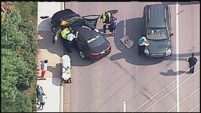 One man is in critical condition while a second person was injured in a crash Monday that involved four vehicles.