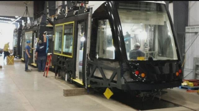 City officials expectits first streetcar vehicle to be delivered by the end of October. The original date was Sept. 29.