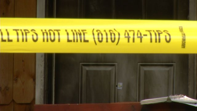 Crime scene tape marks the locaiton of another child shooting in Kansas City