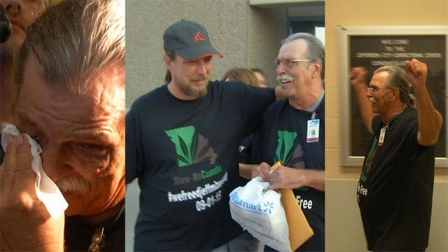A Missouri man sentenced to life without parole for marijuana-related offenses was reunited with his loved ones Tuesday after hisreleasefrom prison.