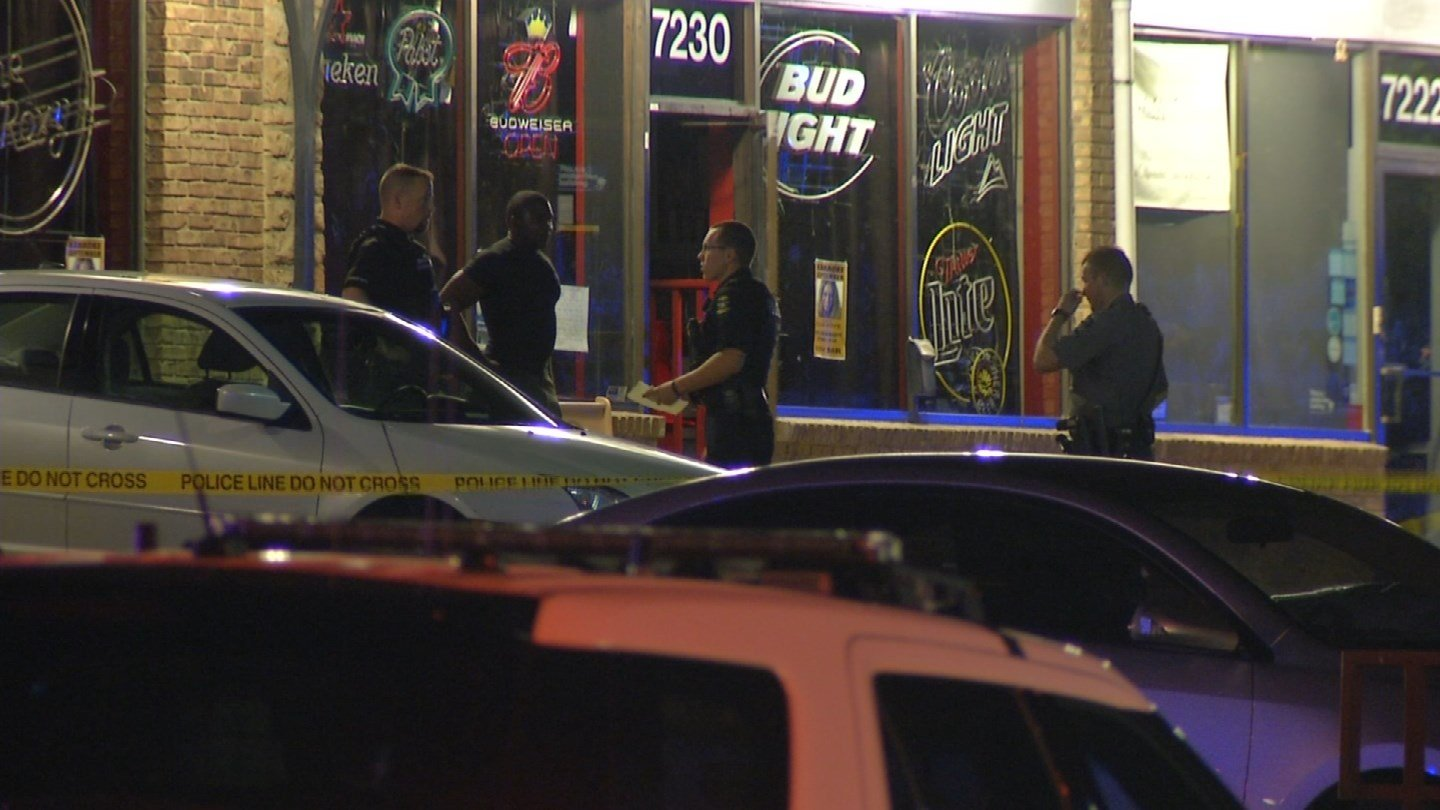 The shooting happened outside of Roxy located at 7230 W 75th St. Police say they were called to the bar about 1:30 a.m. Wednesday for a fight.