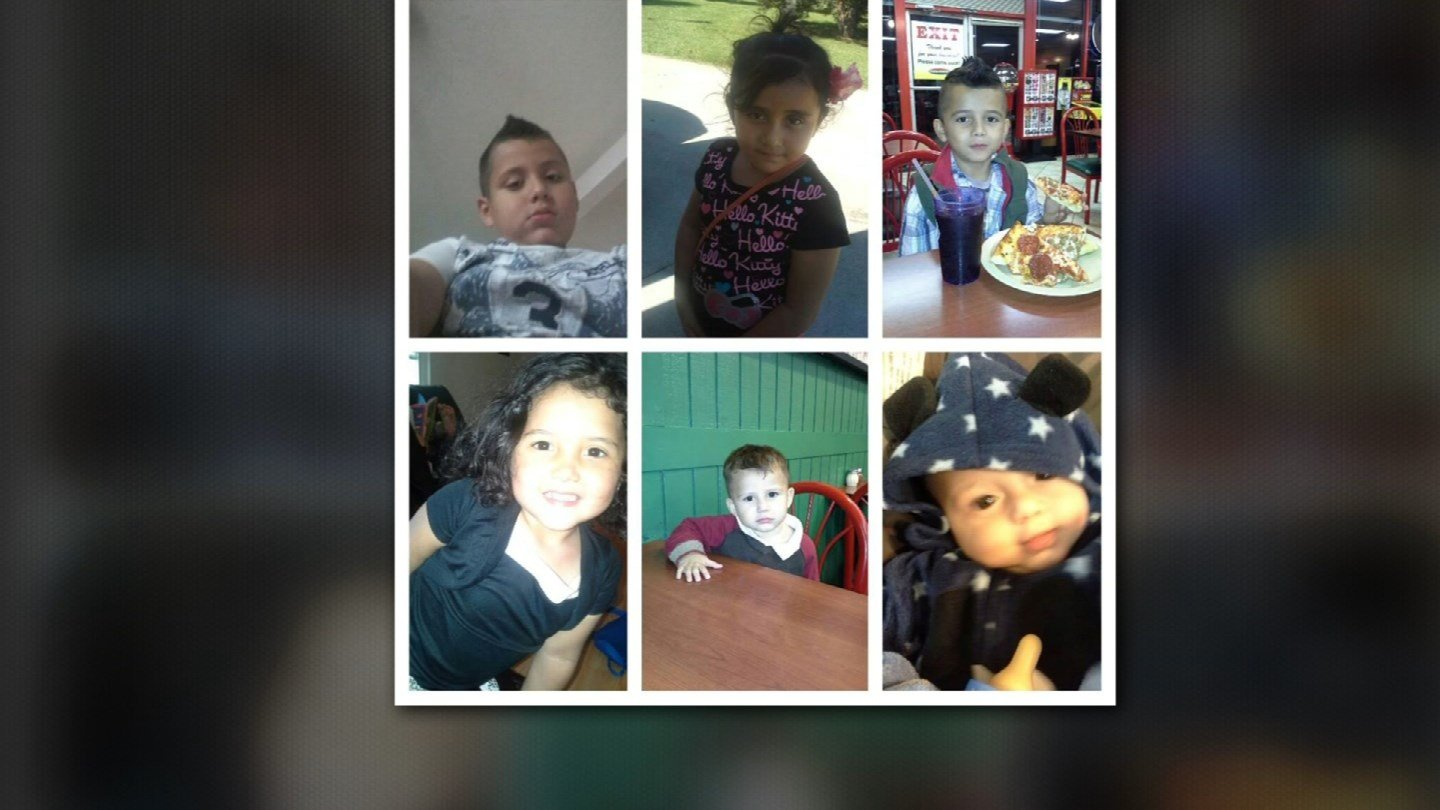 The six children - four boys and two girls ranging in age from one and a half to 10 years old - were rushed to Children's Mercy Hospital with critical injuries. The youngest boy had surgery Wednesday for internal injuries.