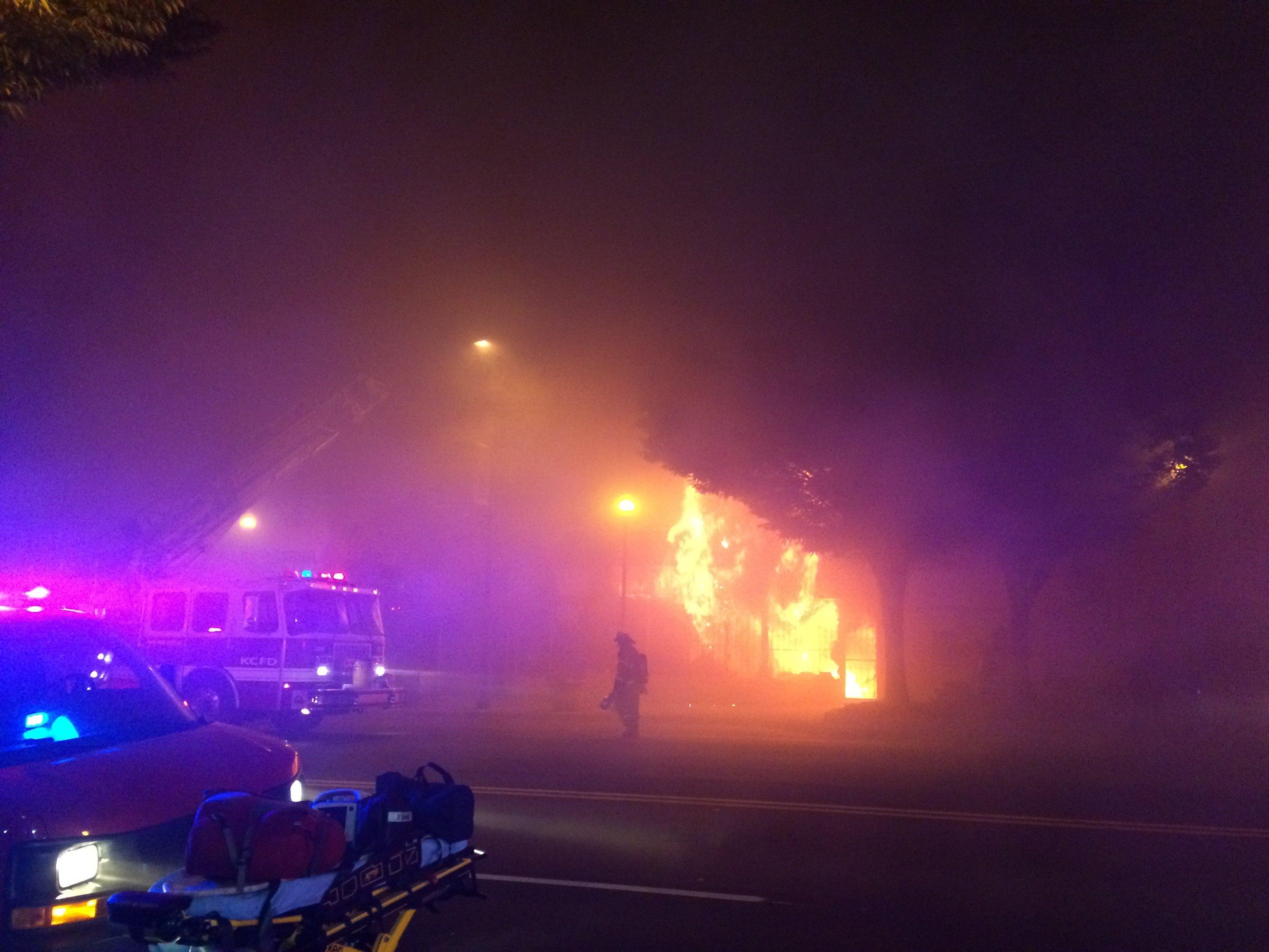 Two firefighters killed battling Kansas City blaze