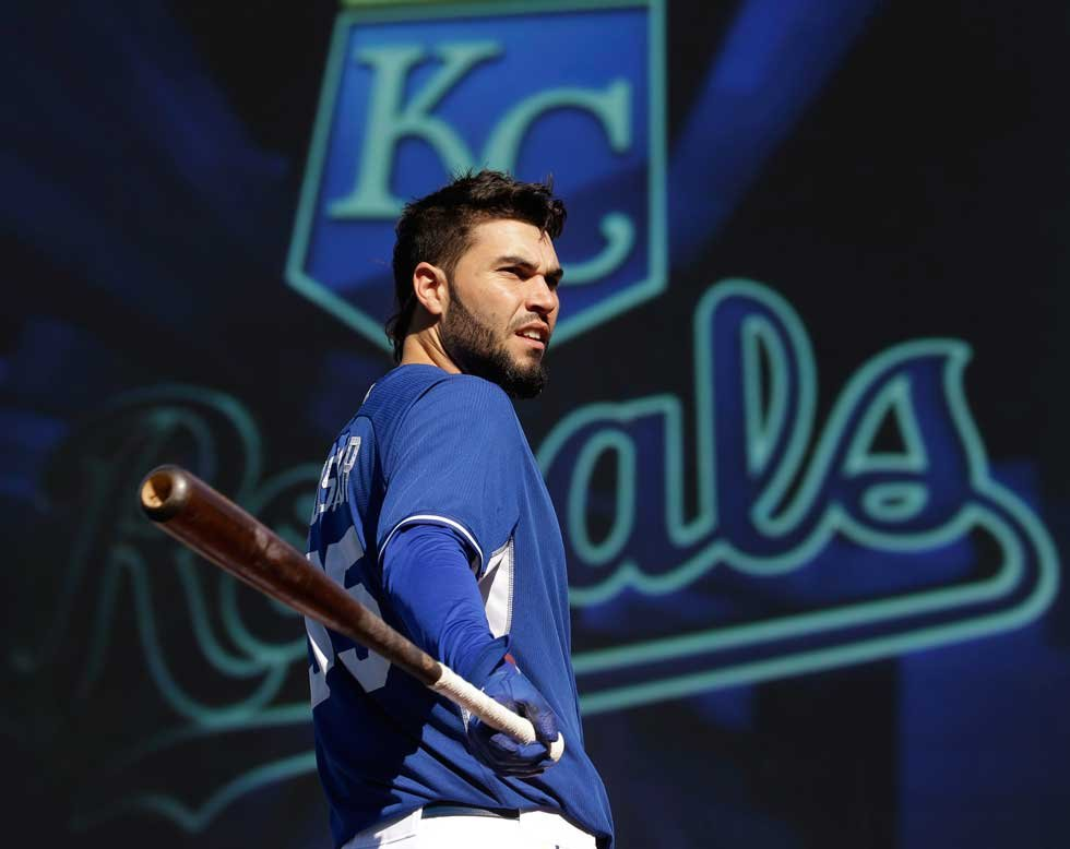 Former Royals' first baseman Eric Hosmer has reportedly agreed to an eight-year $144 million contract with the San Diego Padres. (AP)