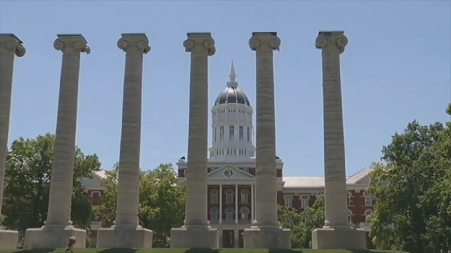 The University of Missouri plans to spend $550,000 this summer to repair its iconic columns on the Francis Quadrangle. (AP)