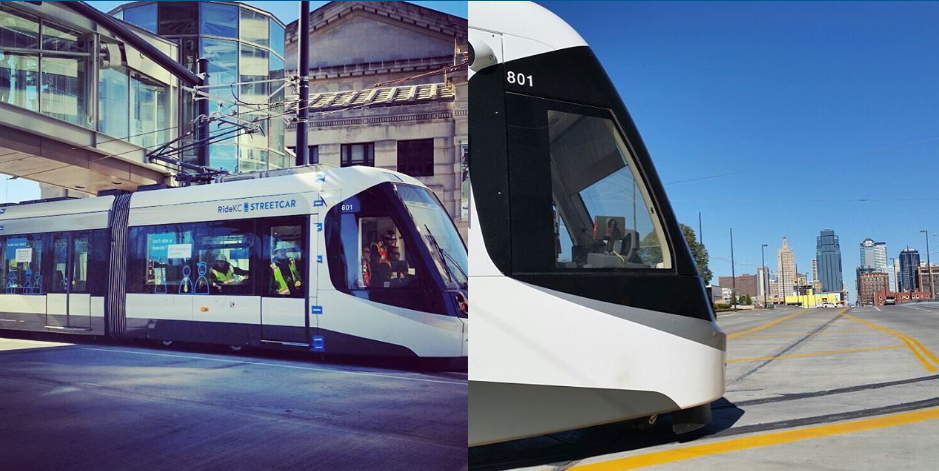 Streetcar Authority officials are continuing to test out car No. 801 this week after multiple successful runs through downtown on its own electrical power. (@kcstreetcar via Instagram)