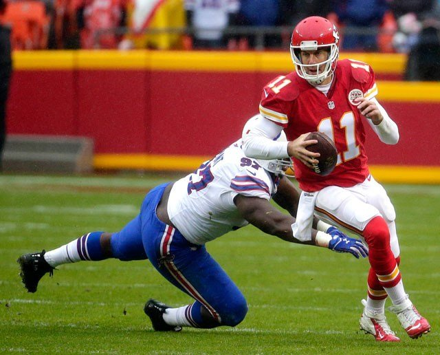 Alex Smith and the Chiefs offense spark the comeback against the Buffalo Bills Sunday at Arrowhead Stadium