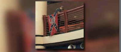 Confederate flag displayed over cafeteria at Gardner Edgerton High School