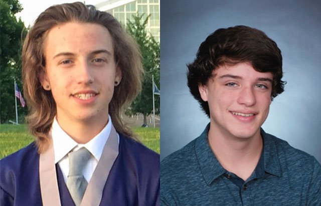 The victims have been identified as 18-year-old Tanner Rardin, left, a recent graduate of Lee's Summit West High School, and 18-year-old Nathan Giron, a senior at the same school.