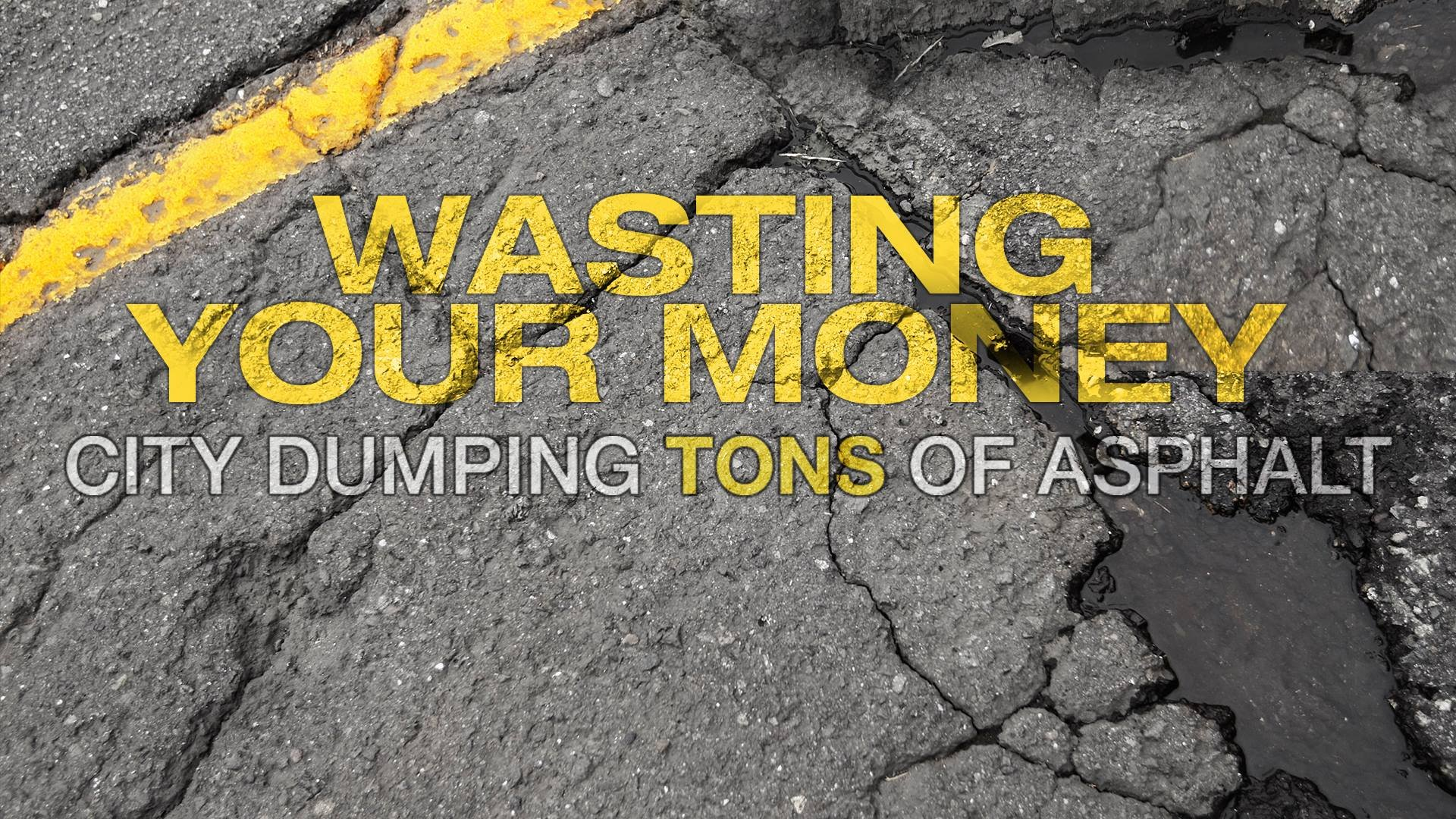 KCTV5 News exposed Wyandotte County Street Division employees over purchasing asphalt meant to fill potholes and dumping it on private property wasting thousands of taxpayer dollars and creating distrust in government. (KCTV5)