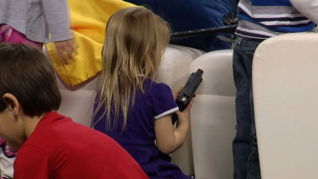 The Fairway Police Department teamed up with KCTV5 News to test how children react when they find a gun. (KCTV5)