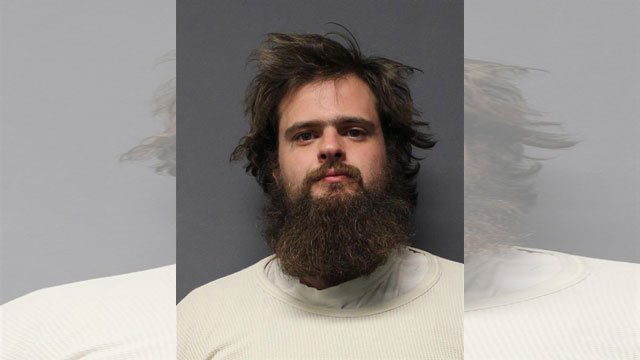 The sheriff's office in Yavapai County, Arizona, said 24-year-old Grayden Denham was arrested Sunday and was jailed on suspicion of theft and displaying a fictitious license plate. (Yavapai County Sheriff's Office)
