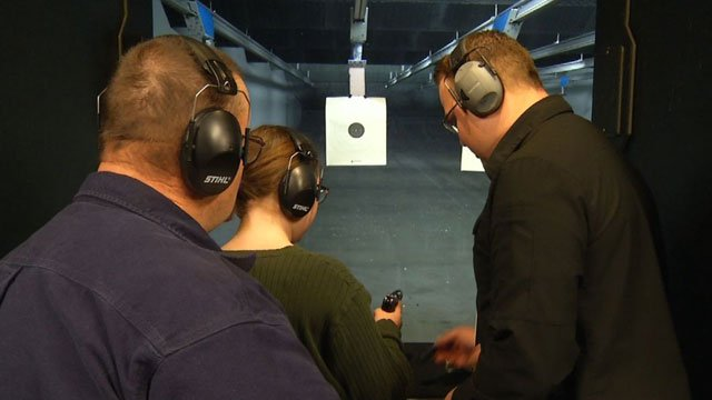 At Frontier Justice, kids must be 48-inches tall and a parent has to accompany them. You can bring your own gun or rent one from the range. (KCTV5)