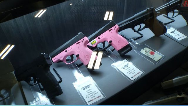 Guns now come in all different colors and are lightweight with matching accessories that are more feminine. (KCTV5)