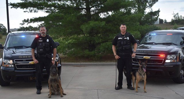 The department saysthe devices will be installed in the vehicles for K-9 Marko and K-9 Bono. (Facebook/Johnson County, KS Sheriff's Office)